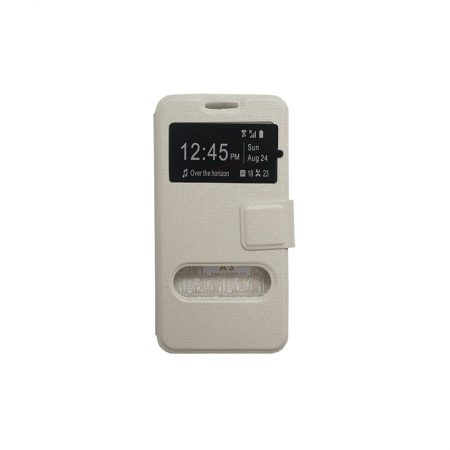 Huawei  G8 Book cover Wallet Flip-White