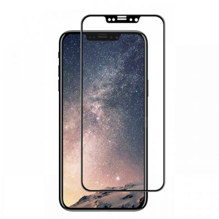 Tempered Glass 5D Forever Mobile for iPhone X black FULL GLUE