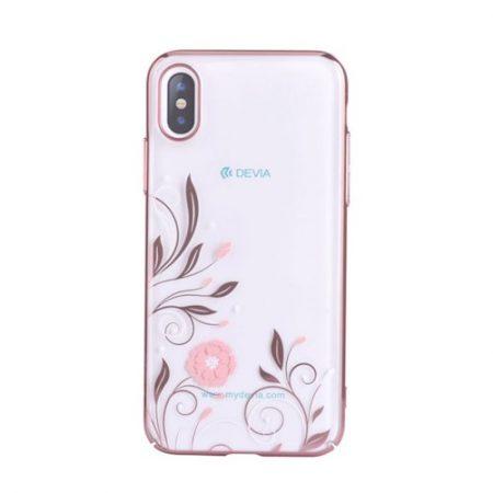 Case DEVIA Petunia iPhone X / iPhone XS Red swarovski MODEL:306082 PART:6938595306082