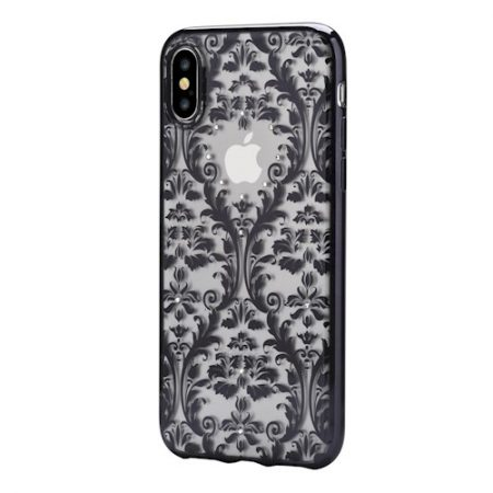 Case DEVIA Baroque iPhone X/ iPhone XS black SWAROVSKI