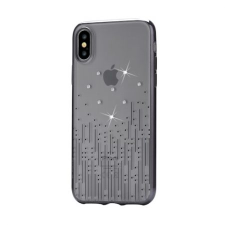 Case DEVIA Meteor iPhone X/ iPhone XS black SWAROVSKI