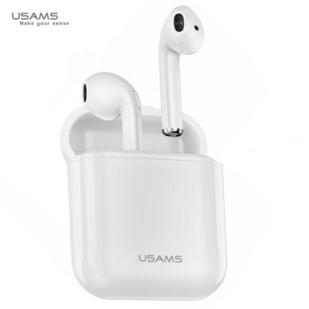 USAMS LC Dual Stereo TWS Wireless Headset White