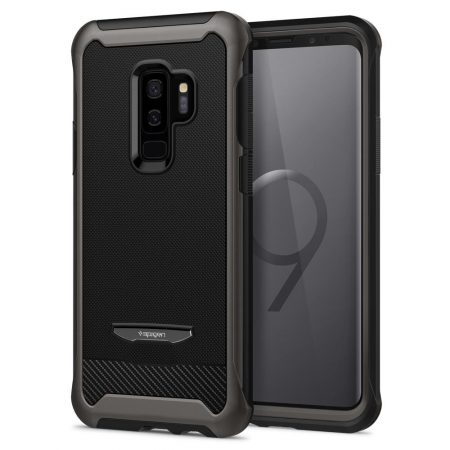 Spigen Θήκη Reventon Samsung Galaxy S9 Plus 360° Full Coverage - Black & Tempered Glass (593CS22979)