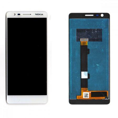 Οθόνη LCD και Digitizer Οθόνη Μηχανισμού Αφής για Nokia 3.1 - WHITE OEM