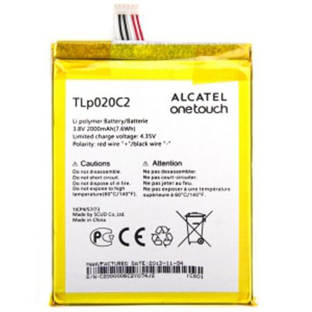 Γνήσια Μπαταρία Alcatel TLP020C2 Για One Touch Idol X 2000 mAh 6040D / 6040X (Bulk) ORIGINAL