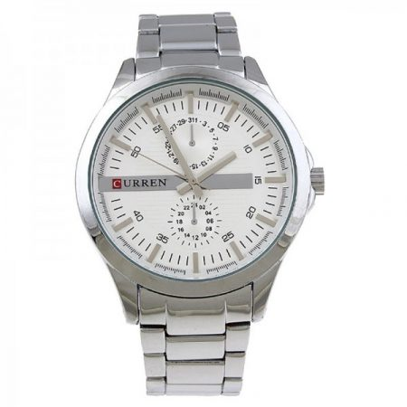 Curren 8128 Silver White