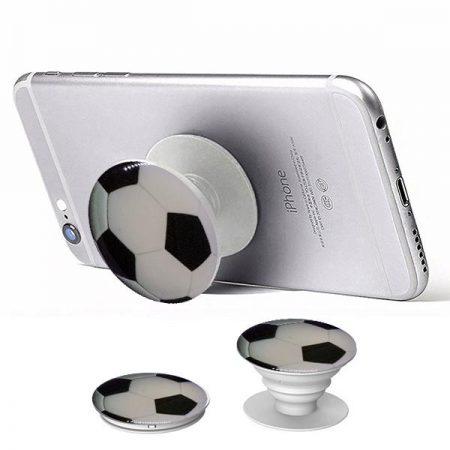 Pop Socket Mobile Stand & Holder με Βάση Αυτοκινήτου Soccer Ball